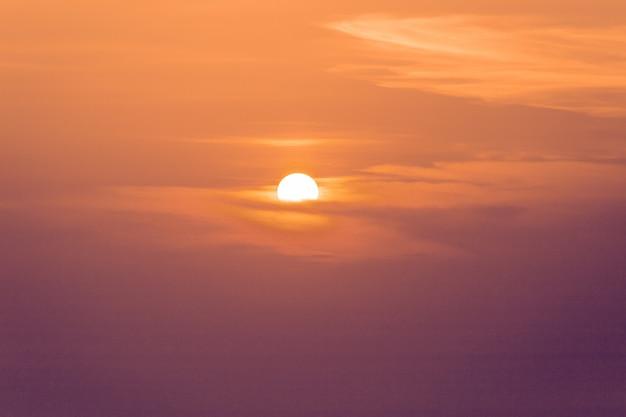 Sunset horizon sea water landscape. sunset sea horizon panorama Premium Photo