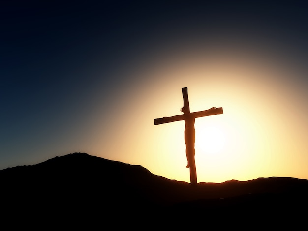 Jesus cross vectors photos and psd files free download sunset landscape good friday voltagebd Image collections