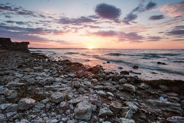 Sunset near akkerman fortress beach Premium Photo