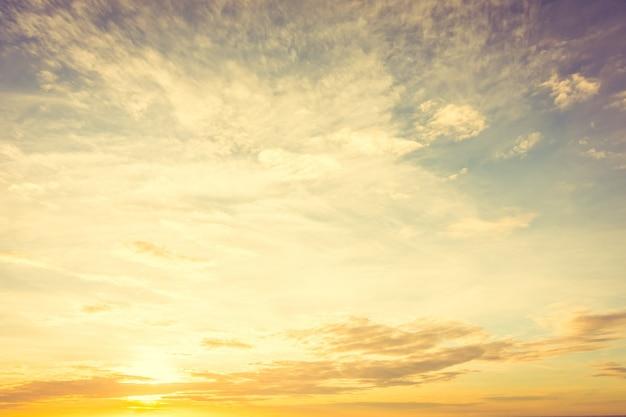 Sunset on sky Free Photo