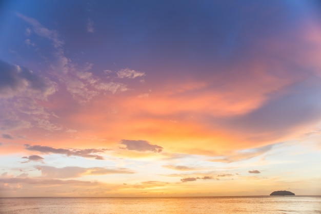 sunset with clouds photo free download