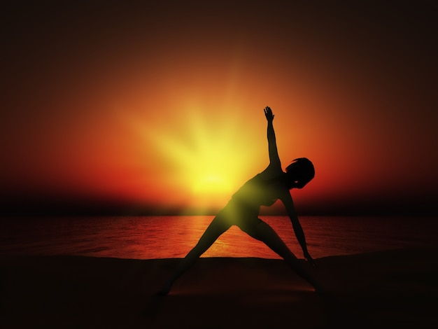 Sunset Yoga Pose Free Photo