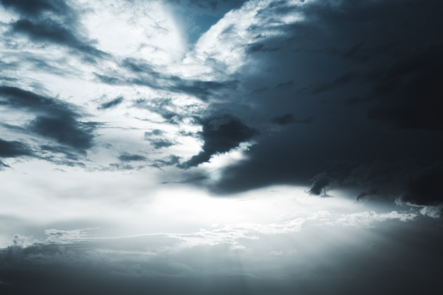 Super dramatic and heavenly sky with clouds after a short rain Premium Photo