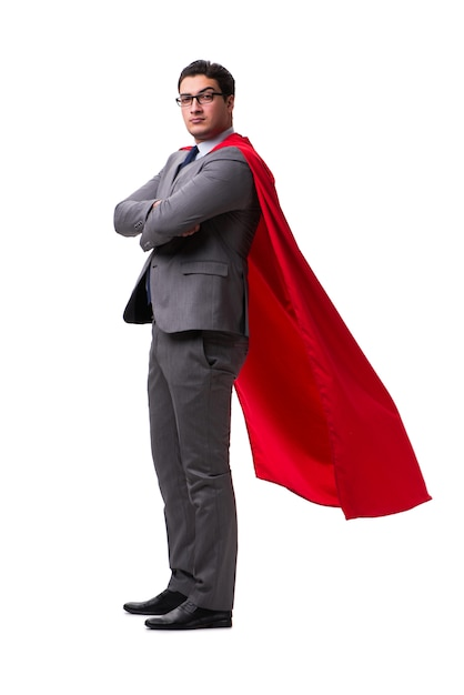 Super hero businessman isolated Premium Photo