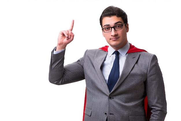 Super hero businessman isolated Premium Photo