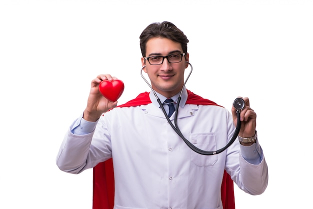 Super hero doctor isolated Premium Photo