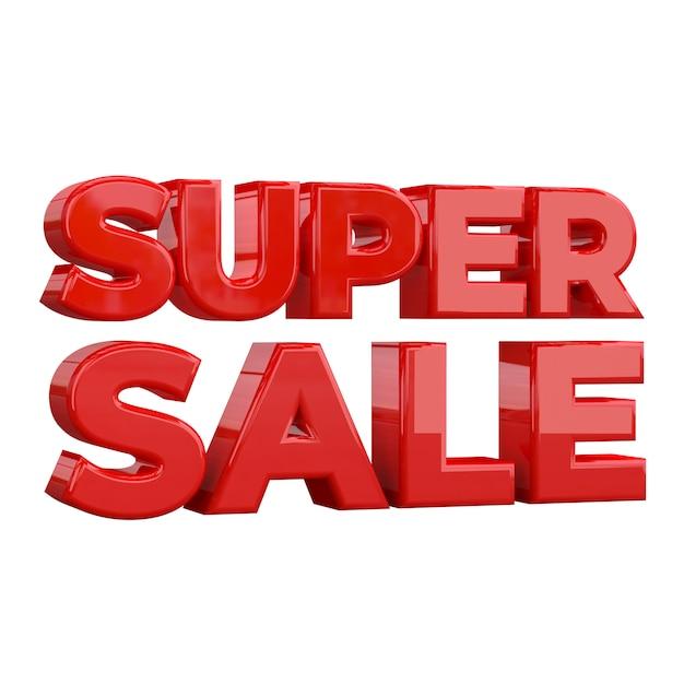 Super sale banner design template, special promotion Premium Photo