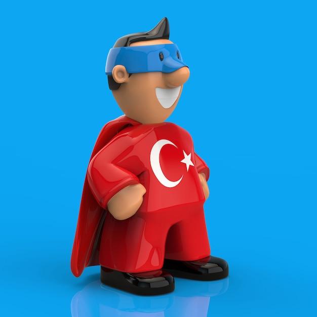 Концепция супергероя - 3d иллюстрации Premium Фотографии