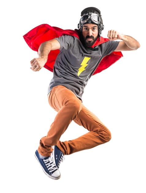 Супергерой, дающий удар Бесплатные Фотографии