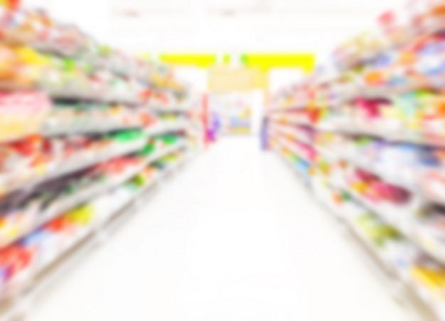 Supermarket blurred background Premium Photo