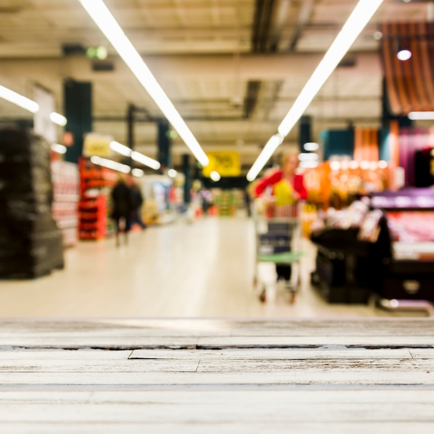 Supermarket with blurred effect Free Photo