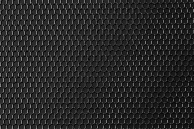 Surface of black pattern metal is a table background. Premium Photo