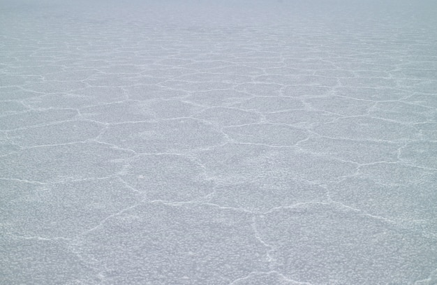 The surface of salar de uyuni salt flats after the rainy season, potosi, bolivia, south america Premium Photo