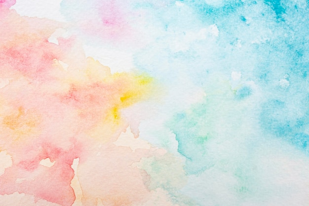 Surface with creative watercolor paint Premium Photo
