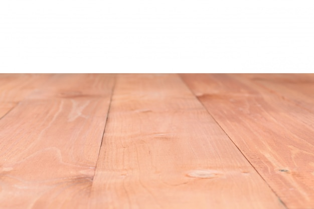 The surface of the wooden brown table Premium Photo