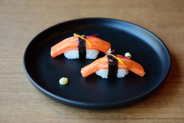 Sushi ready for party, event, meeting, celebration. Premium Photo