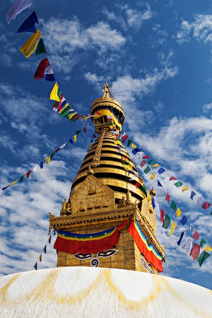 Swayambhunath temple Premium Photo