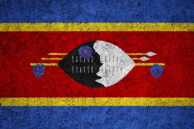 Swaziland flag painted on grunge wall Premium Photo