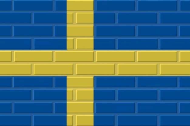 Sweden brick flag illustration Premium Photo