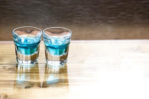 Sweet alcoholic blue liqueur Free Photo