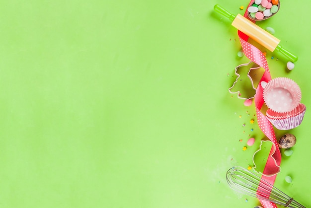 Sweet baking concept for easter Premium Photo