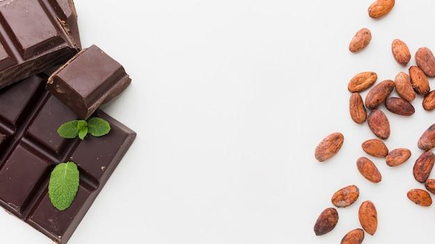 Cioccolato dolce in piano Foto Gratuite