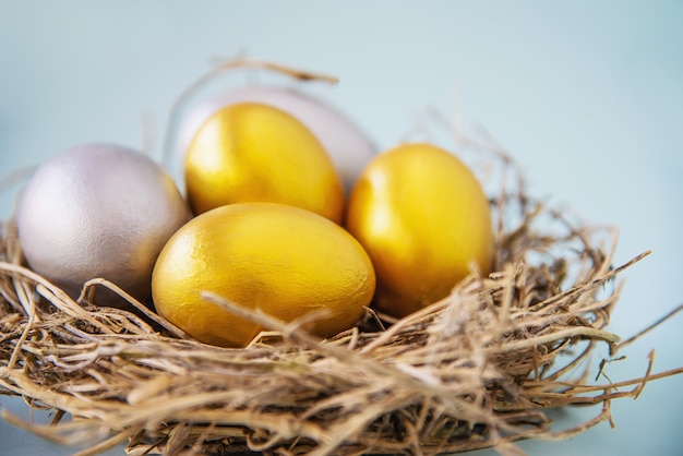 Sweet colorful easter eggs background - national holiday celebration concepts Free Photo