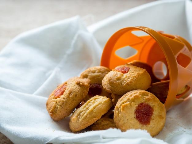 Sweet cookies ready for serve Premium Photo
