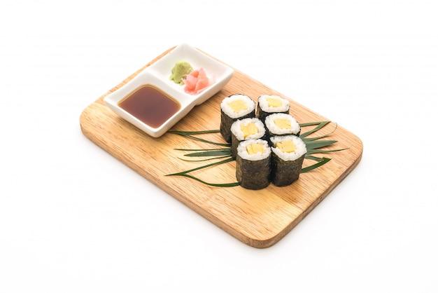 Sweet egg maki (tamago) - japanese food style Premium Photo