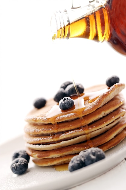 Sweet pancakes with berries Free Photo