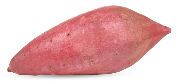 Sweet potato isolated on white clipping path Premium Photo