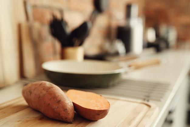 Sweet potato in the kitchen Free Photo