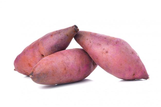 Sweet potato on the white space Premium Photo