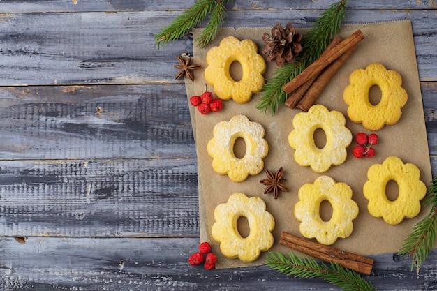 Sweet shortbread cookies Premium Photo