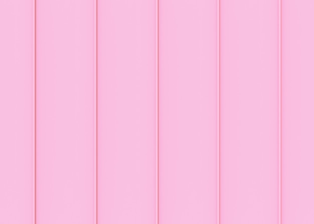 Sweet soft pink color tone vertical panels pattern wall background. Premium Photo