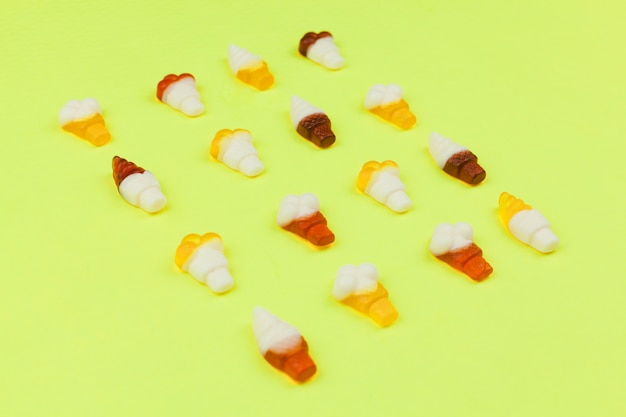 Sweets in form of ice cream on light background Free Photo