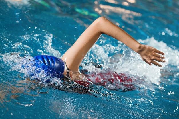 Swimmers are swimming Premium Photo