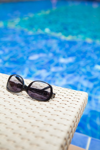 Swimming pool background for abstract and summer Premium Photo