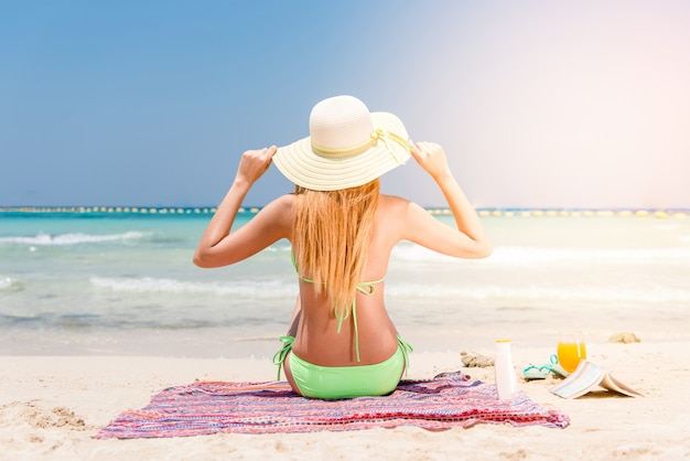Swimsuit travel cute body vacation Free Photo