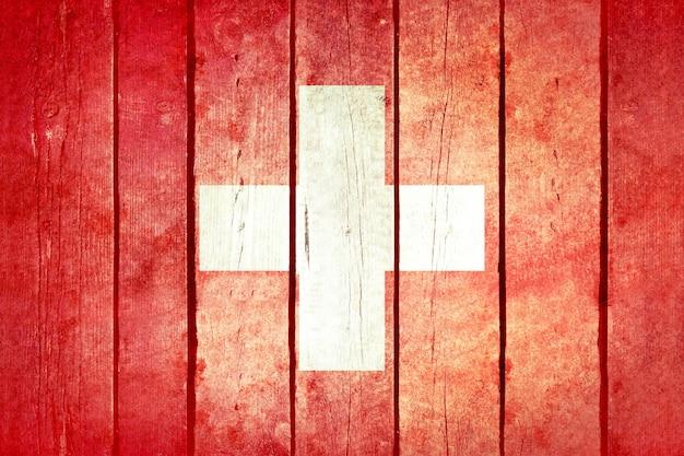 スイスの木製の旗。 無料写真