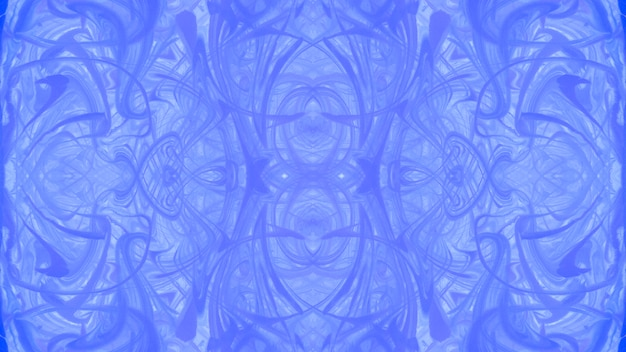 Symmetrical blue marbling texture abstract surface design Free Photo