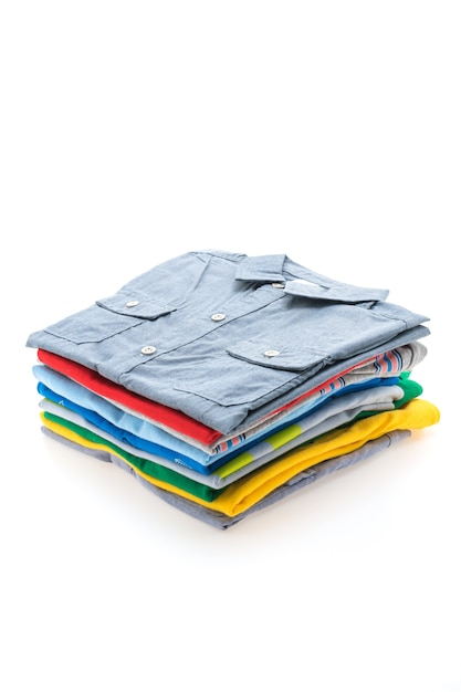 Tシャツやポロのスタック 無料写真