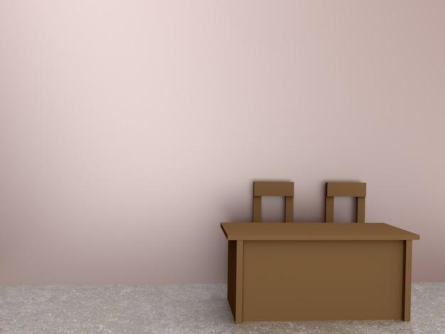 Стол и стул в номере Premium Фотографии