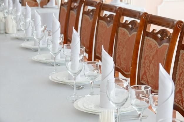 Table Arrangement In Very Expensive Haute Cuisine Restaurant