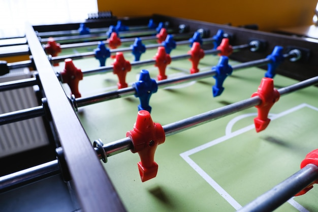 Table football in the entertainment center Premium Photo