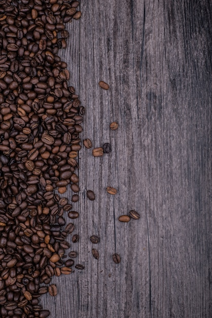 Table full of coffee beans Free Photo