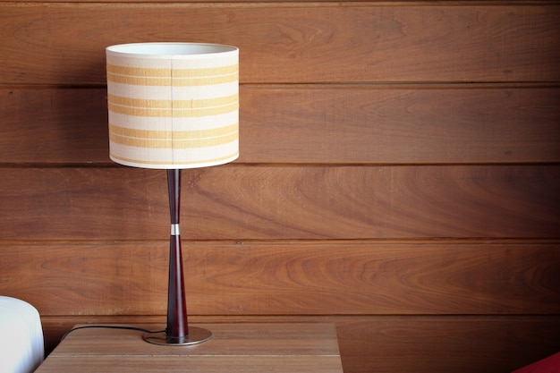 Table lamp on bedroom Free Photo
