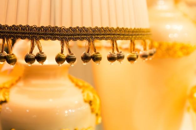 Table luxury lamp, yellow colors Premium Photo