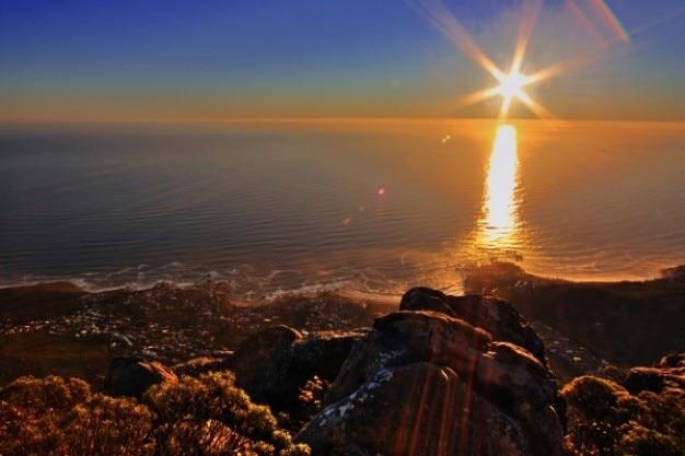 Столовую гору заката hdr Бесплатные Фотографии