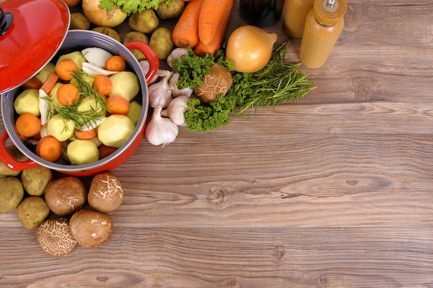 Table With Food Photo Free Download